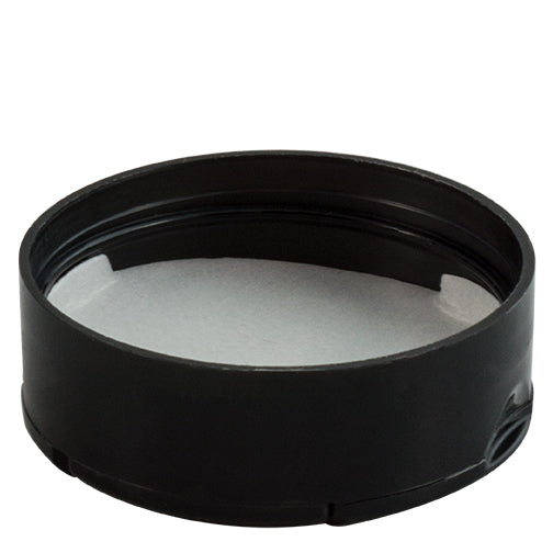 53-485 Black, Dual Flapper Spice Cap with 3 Hole (.200)/Pour, PS (Pressure Sensitive) Liner