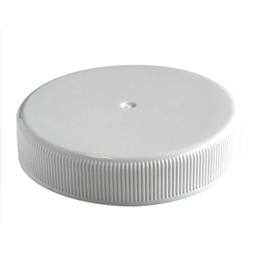 53-400 White Ribbed Caps w/ PS-22 Pressure Seal Liner