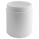 55 oz. White HDPE Plastic Wide-Mouth Canister (120-400)