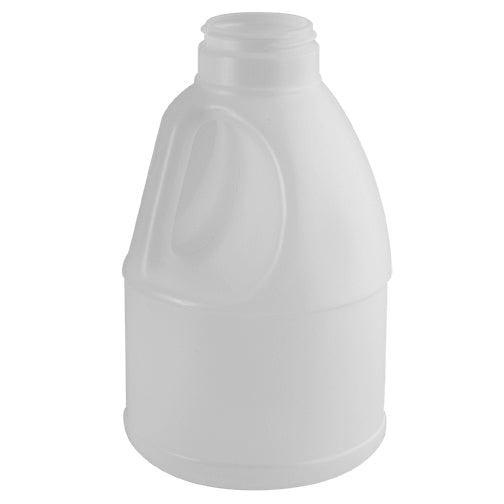 57 oz. (5 lbs. Honey) Natural HDPE Plastic Decanter, 53mm (53-485)