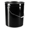 5 Gallon Black Steel Pails (Unlined)