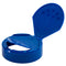 63mm (63-485) Blue Polypropylene Plastic Spice Caps, Flip Top - Sift & Spoon, .200 Holes (Unlined)