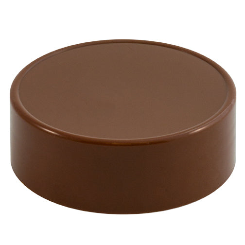 63mm (63-485) Brown Polypropylene (PP) Plastic Spice Caps (Unlined)