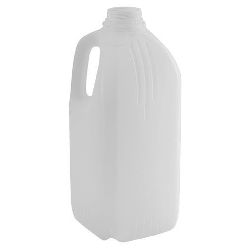 64 oz. (Half Gallon) Natural HDPE Plastic Dairy Bottles (38mm Snap Screw)