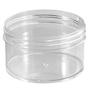 6 oz. Clear PS Plastic Jars (89-400)