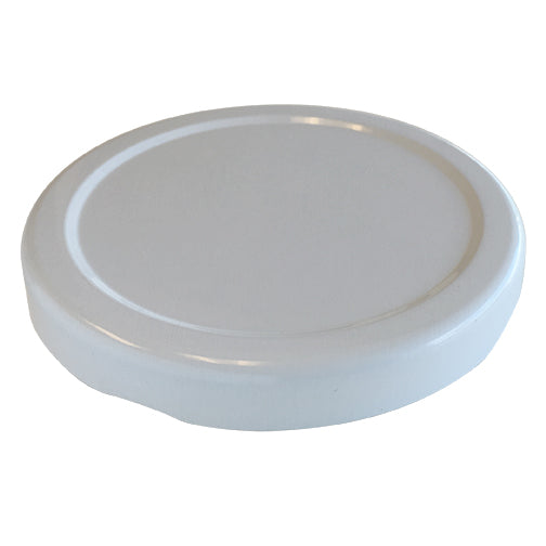 70-2030 White Metal Lug Caps, Plastisol Liner-top
