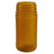 8 oz. Amber PP Plastic Spice Bottles, 53mm (53-485)