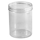 8 oz. Clear Polystyrene (PS) Plastic Jars (70-400)