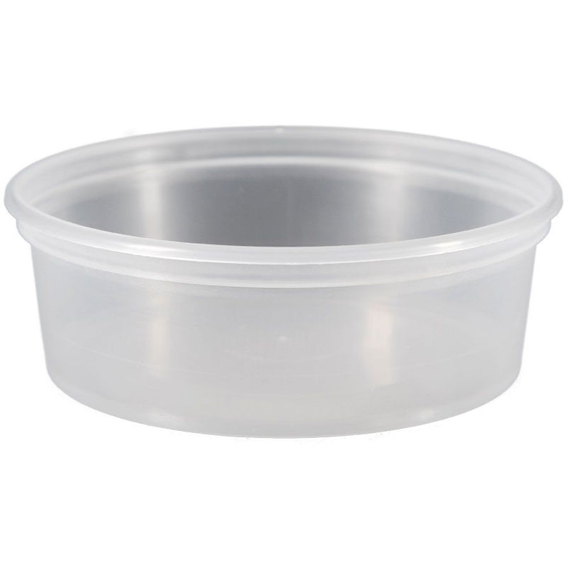 8 oz. Natural Polypropylene (PP) Plastic Freezer Safe (OOF) Tubs (L410)