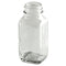 2 oz Clear French Square Glass Bottle (28-400)