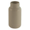 150cc Warm Grey HDPE Plastic, Wide-Mouth Packer Bottles, Traditional Round Design (38-400)