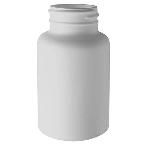 150 cc White HDPE Plastic Packer Bottles (38-400)