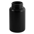 225cc Black HDPE Plastic Packer Bottles (45-400)