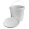 1 Gallon (4.0 L), White, HDPE Plastic, Tamper Evident Pails, with Plastic Handles and Lids