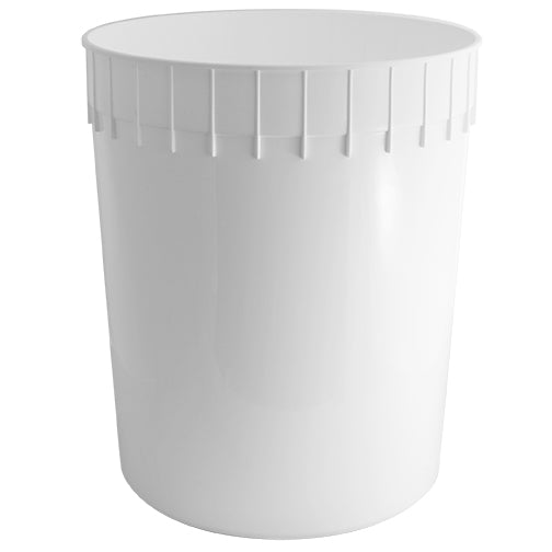 3 Gallon White HDPE Plastic Dairy Pails (FDA Approved and Freezer Safe)