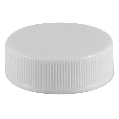 33-400 White Ribbed Caps with Pressure Sensitive (PS22) Liner