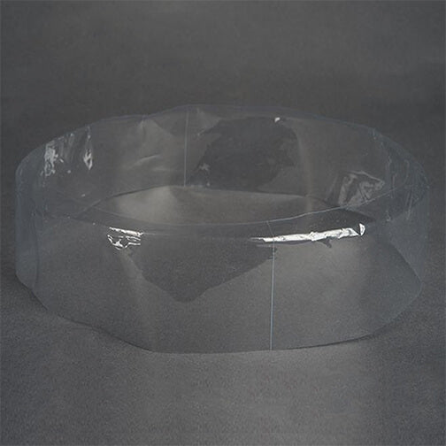 340 x 45 + 10 (mm) Clear Preformed Shrink Bands (Fits Lid Size-L804)