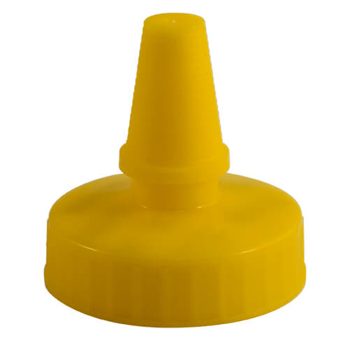 38-400 Yellow Yorker Spouted Cap with Pressure Sensitive (PS-22) Liner