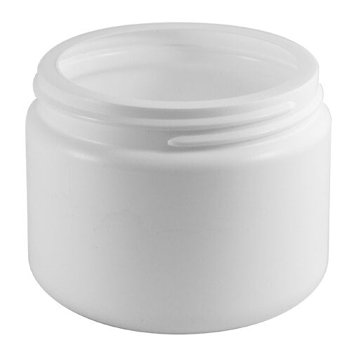 12 oz. White HDPE Plastic Wide-Mouth Jar (89-400)