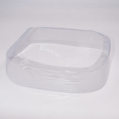 260 x 25 + 7 (mm) Clear Preformed Square Shrink Bands (Fits Square Lid-260mm)