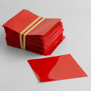 52x52 (mm) Red Flat Cut Shrink Bands (Fits 28mm Cap Size)