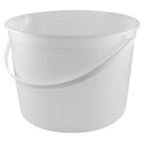 160 oz. (5 qt) Natural HDPE Plastic Tub (Freezer Safe) w/White Plastic Handle (L810)