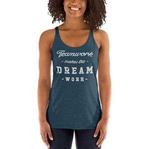 Women's Teamwork Makes The Dream Work Tank Top - Baseball Tees