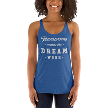 Load image into Gallery viewer, Women's Teamwork Makes The Dream Work Tank Top - Baseball Tees