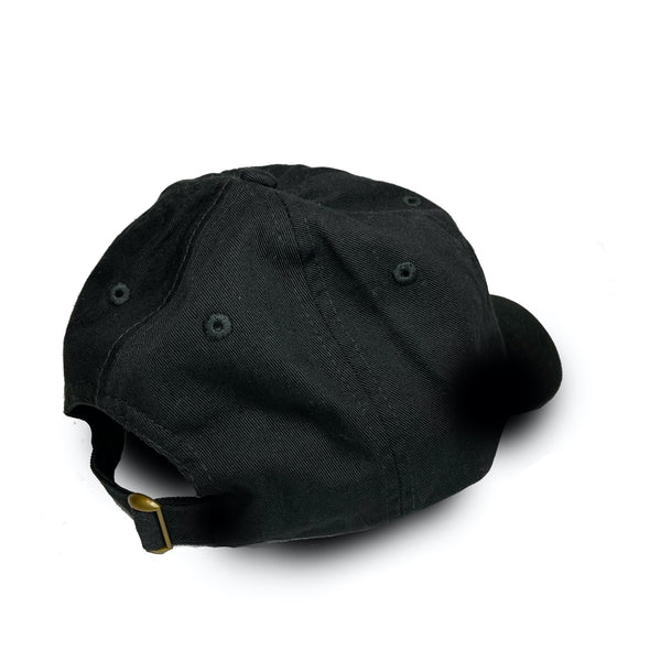 DAD HAT, BLACK WITH LOGO