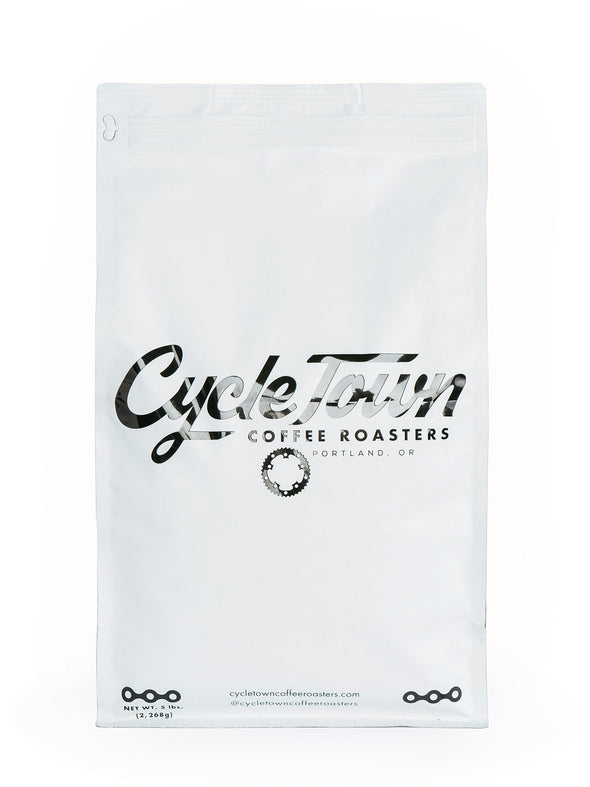 Cycle Town Coffee Roasters 5 LB. Bag Front View