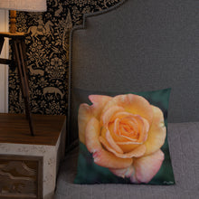 Load image into Gallery viewer, Rose Orange Delight Premium Pillow with White Back