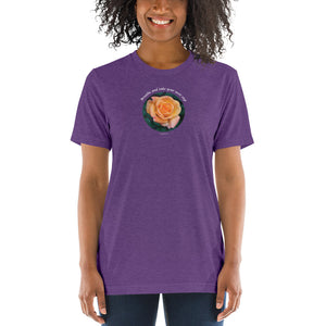 Breathe and take your next step! The tri-blend Bella Canva_Short sleeve t-shirt