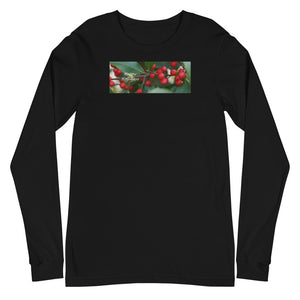 """Happy Holidays""    Holly Berries-Unisex Long Sleeve Tee"