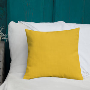Daylily Premium Pillow with Golden Back