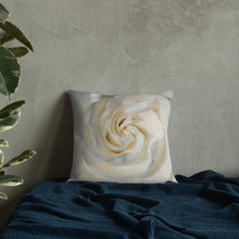 Load image into Gallery viewer, Gardenia Premium Pillow with White Back