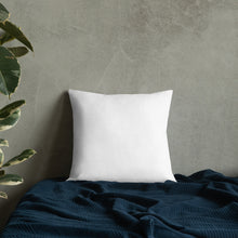 Load image into Gallery viewer, Agapanthus 'Indigo Frost'  Premium Pillow with White Back