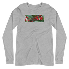 "Load image into Gallery viewer, ""Merry Christmas""  Holly Berries-Unisex Long Sleeve Tee"