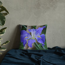 Load image into Gallery viewer, Louisiana Iris Premium Pillow with White Back