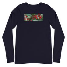 "Load image into Gallery viewer, ""Happy Holidays""    Holly Berries-Unisex Long Sleeve Tee"