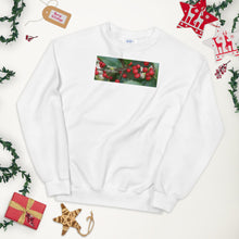 "Load image into Gallery viewer, ""Happy Holidays""  Holly Berries-Unisex Sweatshirt"