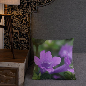 Philippine Violet Premium Pillow with White Back