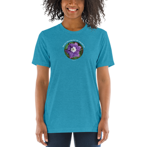 You are amazing just the way you are_Unisex Tri-Blend T-Shirt | Bella + Canvas 3413