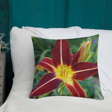 Load image into Gallery viewer, Daylily Premium Pillow with Golden Back