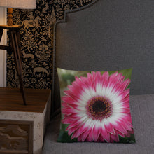 Load image into Gallery viewer, Gerbera Daisy Premium Pillow with White Back