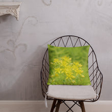 Load image into Gallery viewer, Sedum Angelina Stonecrop with White Back Premium Pillow