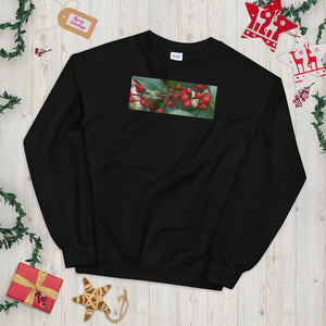 """Happy Holidays""  Holly Berries-Unisex Sweatshirt"
