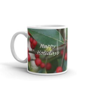 "Holly Berries  ""Happy Holidays"""