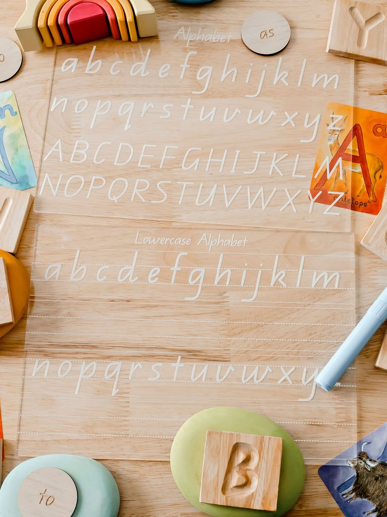 Write and Wipe Alphabet Tracing Board