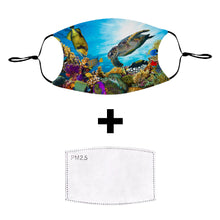 Load image into Gallery viewer, Coral Reef Reusable Cloth Face Mask with PM2.5 Filter