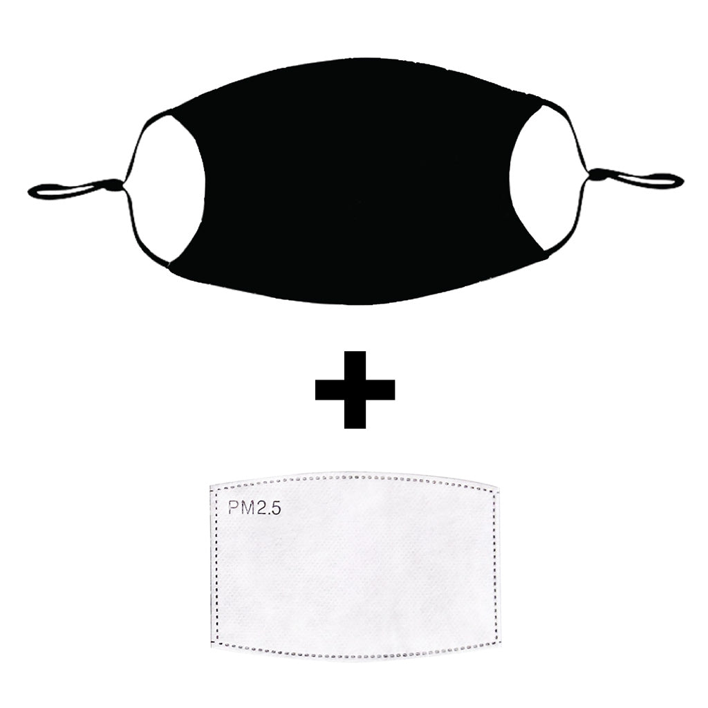 Black Cloth Face Mask with PM2.5 Filter